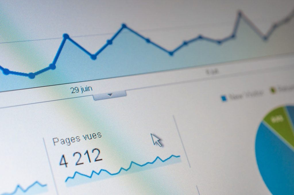 website visitors - google analytics page views