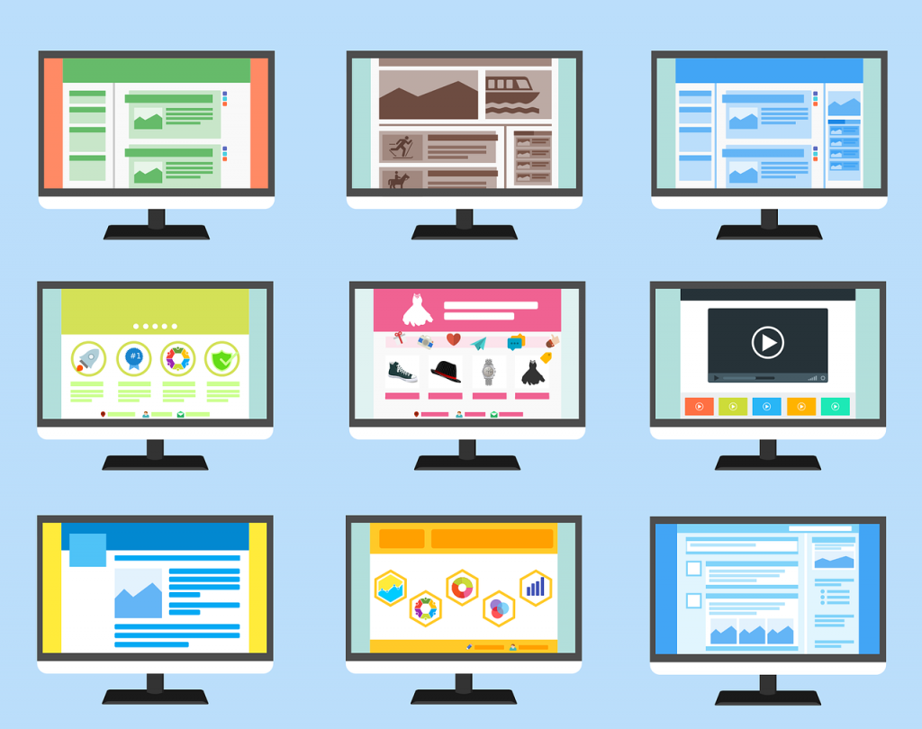 different types of websites - different websites - website types - single page websites - multi page websites