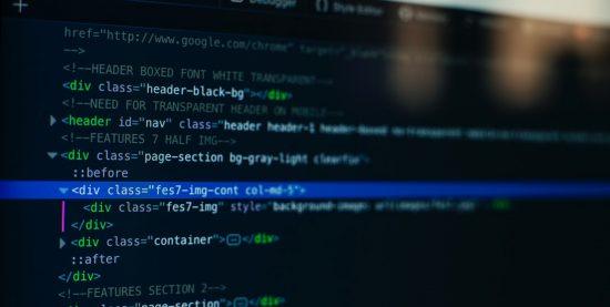 web development - html and css code - coding website