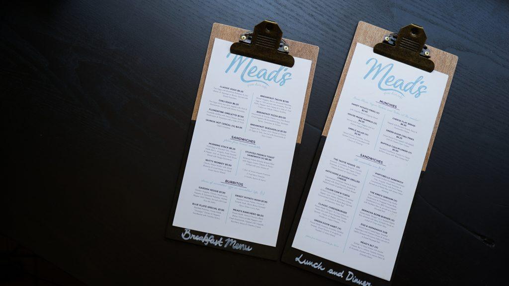 fast food - restaurant menu