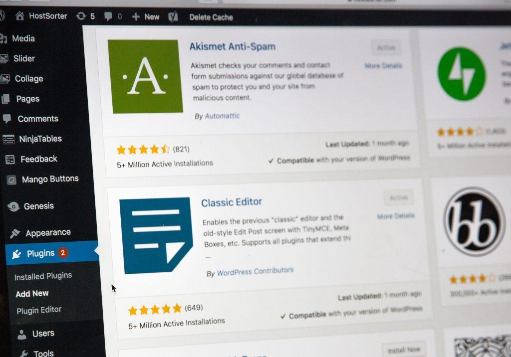 WordPress - website plugins