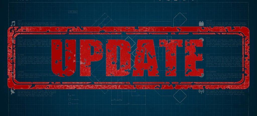 Update - updating is important - website