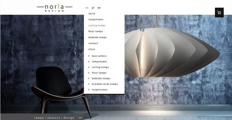 language drop menu - language drop menu example - multilingual website example