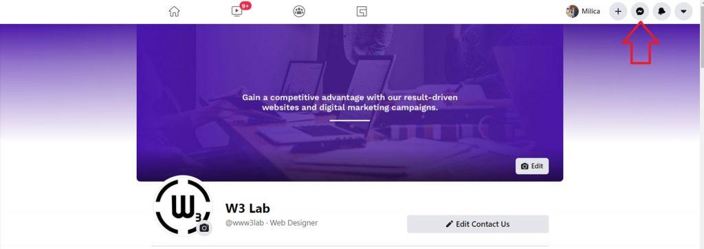 facebook messenger icon - new facebook design - w3 lab