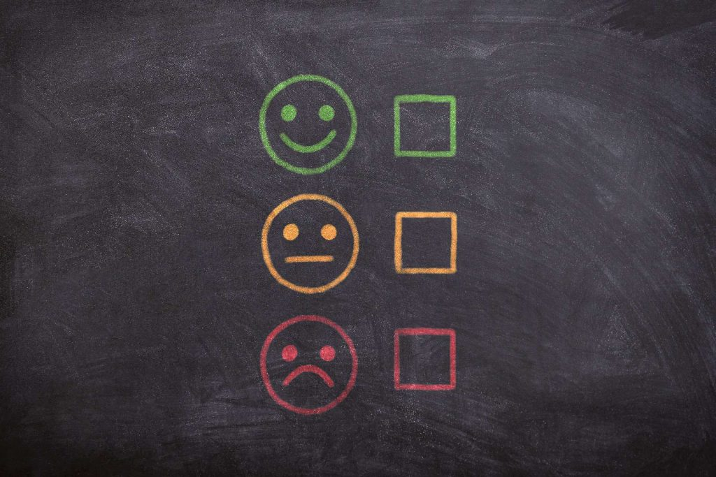 pain points - smiley faces - check box