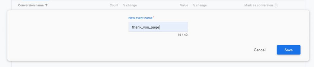 naming conversion in google analytics 4