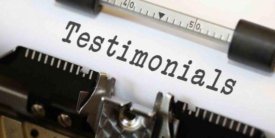 testimonials - typewriter