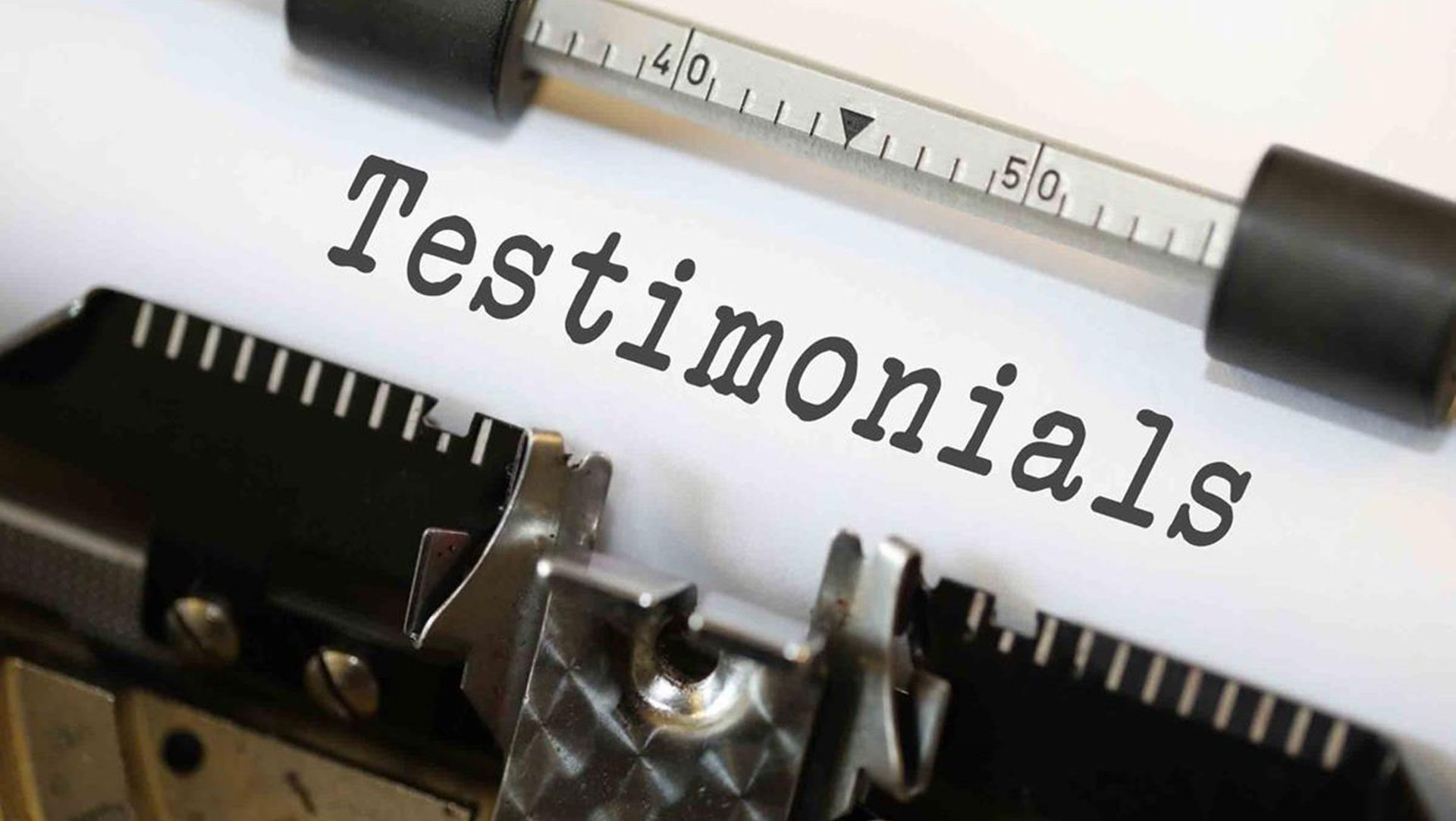 testimonials in letters - typewriter